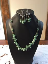Semi-Precious Necklace and Earrings